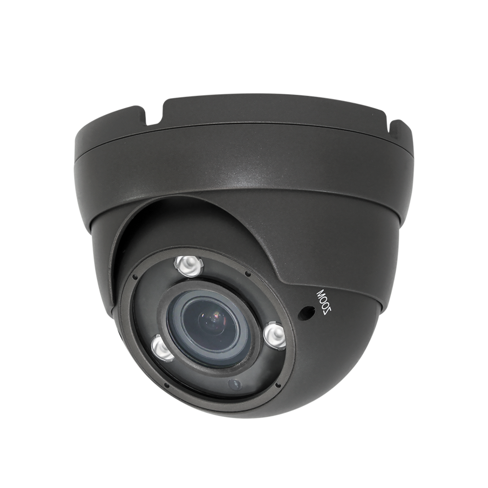 eSecure AHD/HD-TVI/HD-CVI/960H 5MP 2.8-12mm IR Eyeball Dome Gray