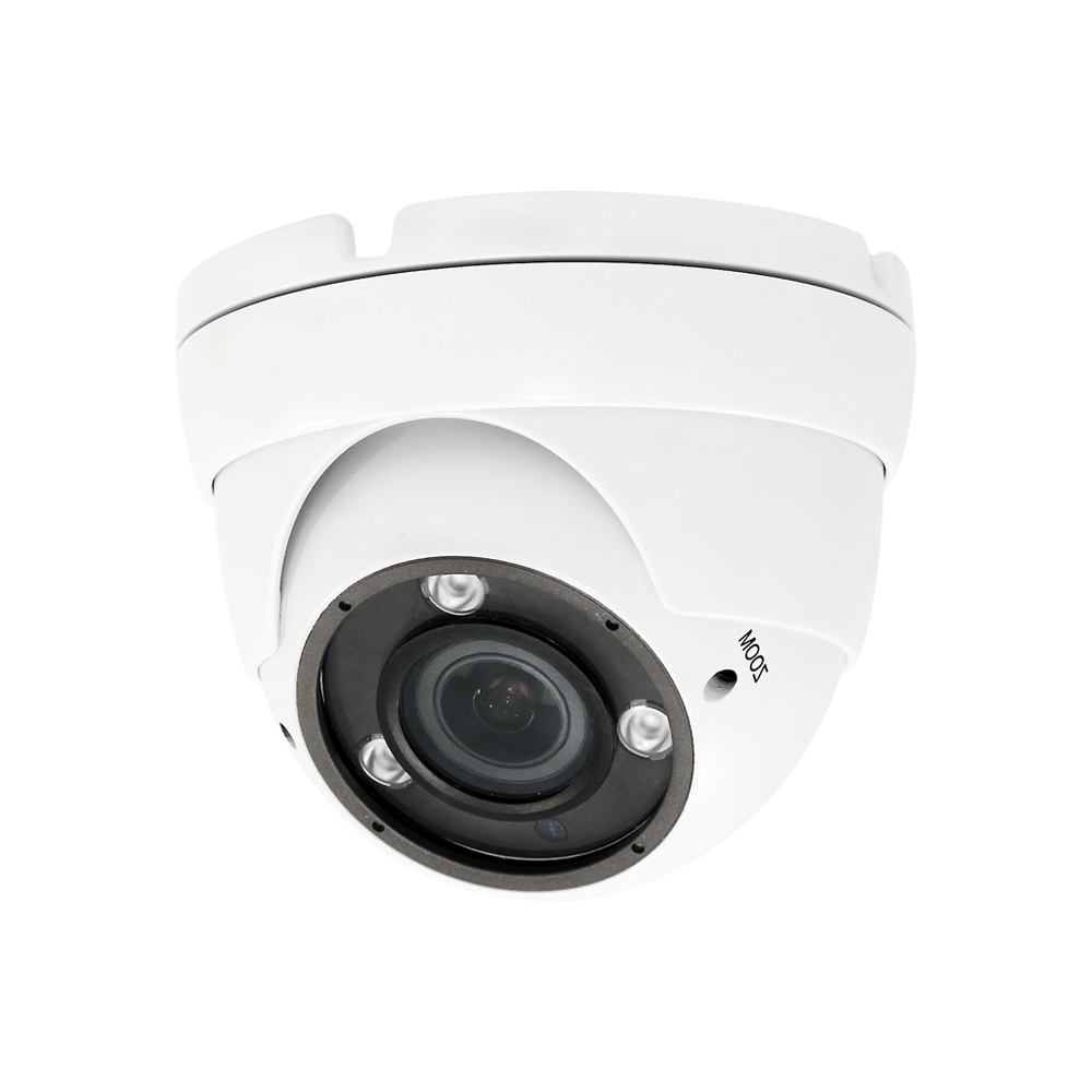 eSecure AHD/HD-TVI/HD-CVI/960H 5MP 2.8-12mm IR Eyeball DomeWhite