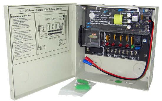 4CH Compact Size Power Supply Box, 12VDC, 3AMP, PTC Fuse