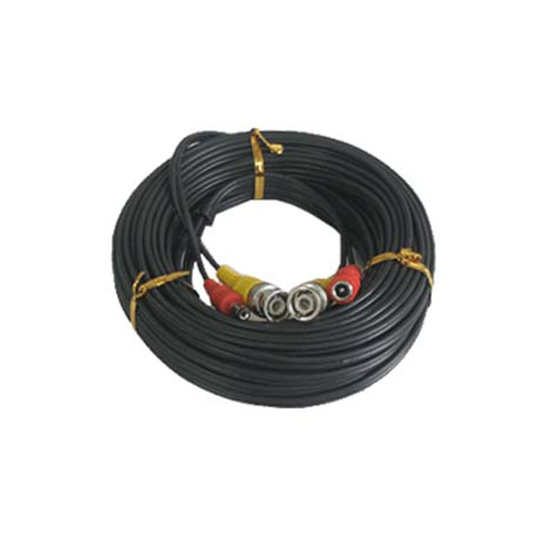 Premade Video and Power Cable, 25FT, Black