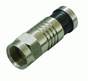 Compression Type Connector, F-type male, RG59