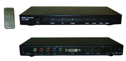 Video to HDMI AV Converter switcher with Remote