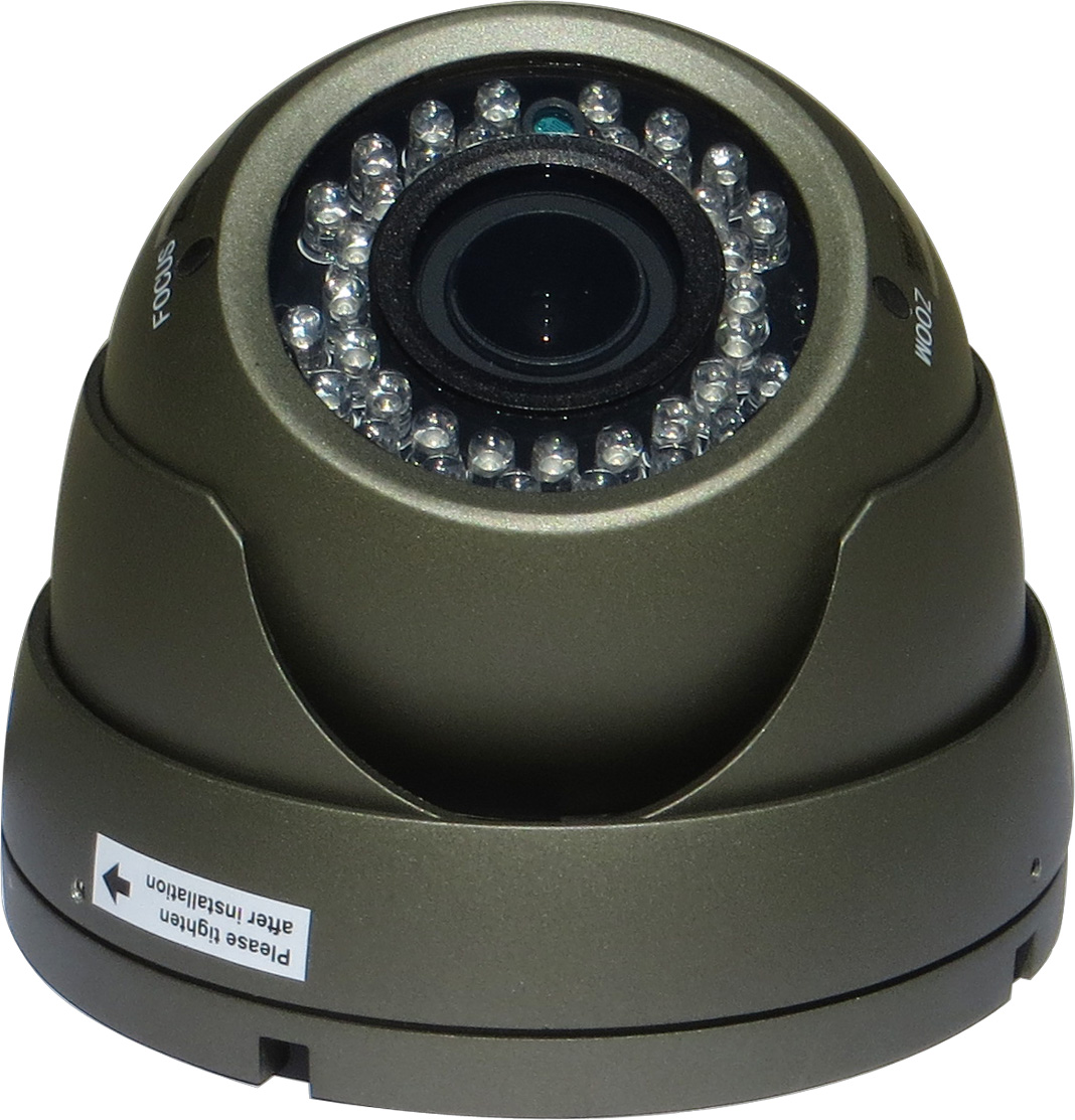 1080P HDCVI Outdoor Dome Camera, Eyeball 36 LED, 2.8-12mm, Gray