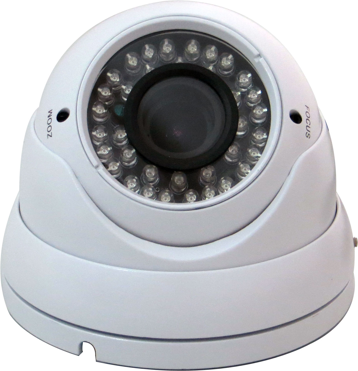 1080P HDCVI Outdoor Dome Camera, Eyeball 36 LED, 2.8-12mm, White